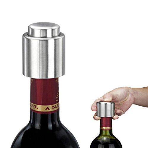 ステンレススチールSealedレッドワインストッパーボトル注ぎ口酒流量ストッパー注ぐCA   B074DLBTSF