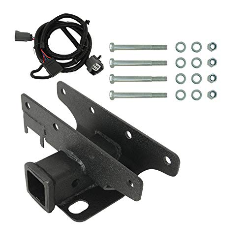 EAG Receiver Hitch (Class III 2 inch) & Tailer Tow Wiring Harness Fit for 07-18 Jeep Wrangler JK