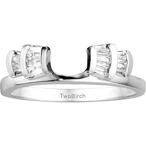 0.25 ct. Diamonds Fan Style Wedding Ring Enhancer Wrap in 10k White Gold (1/4 ct. twt.)