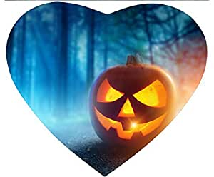 New Hot Comfortable Heart Shaped Mouse Pad - Customizable Printed On Halloween Pumpkin Tree Durable Cool Cheap Game Mouse Pad by Maris's Diary