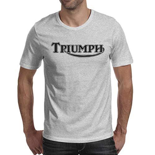 JIAJIAJIAN Loose Men Music Fans Fashion Cotton Triumph-Motorcycles-Logo- Short Sleeve ()