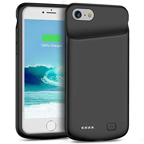 Smiphee Battery Case for iPhone 6 6s, 4500mAh Portable Protective Charging Case Compatible with iPhone 6 6s(4.7 inch) Extended Battery Charger Case (Black)