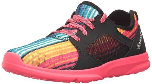 Ariat Kids Fuse Athletic Shoe, Rainbow Serape Mesh, 4 M US Big Kid