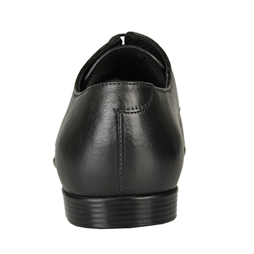 Versace-Collection-Black-Leather-Perforated-Oxfords-Shoes