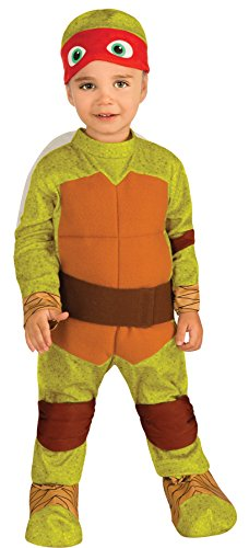 UHC Teenage Mutant Ninja Turtles Raphael Toddler Kids Outfit Halloween Costume, 2T-4T ()