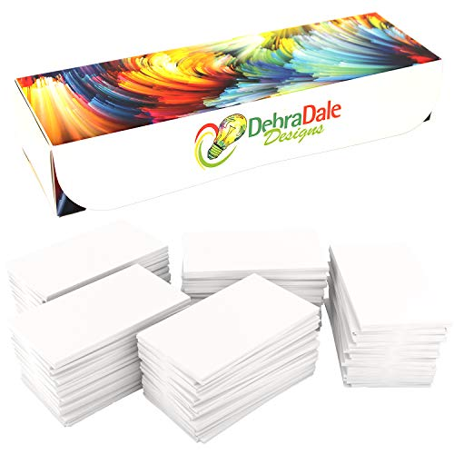 (DEBRADALE DESIGNS Small Blank Study Flash Cards - 2 x 3.5 Inches - 110# White Index - 1,100 - Storage Travel Box With Lid. Made In The USA. Our Most Economical Index Card Weight and Size.)
