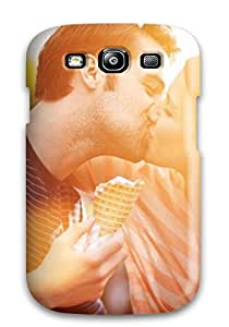 Best 1267729K51792811 Tough Galaxy Case Cover/ Case For Galaxy S3(sweet Boy Girl Kissing Holding Ice Cream)