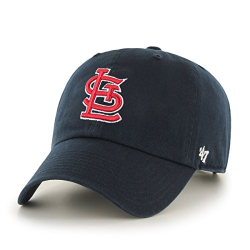 MLB St. Louis Cardinals Men's Clean Up Cap, Navy (Cardinal Hats Baseball)