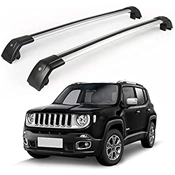 fits JEEP renegade 2015 2016 2017 2018 silver baggage luggage roof rack rail bar