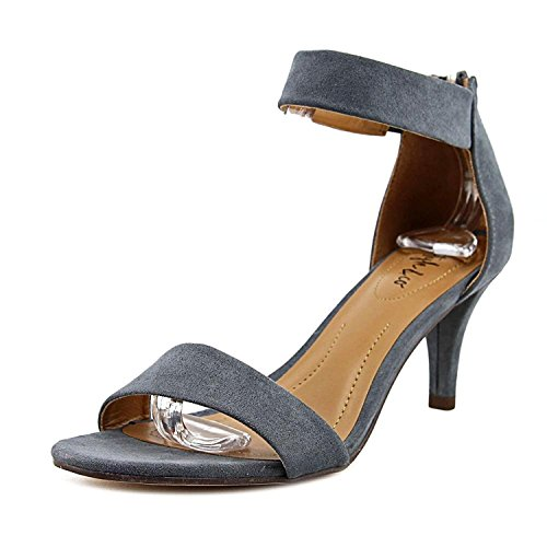 Style & Co.. Womens Paycee Suede Open Toe Ankle Strap Classic Pumps Grey Iron RKX0v