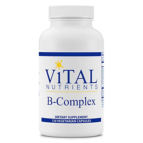 Vital Nutrients – B-Complex – Balanced High Potency B Vitamin Complex – Supports Energy Production, Metabolism and Heart Health – Gluten Free – 120 Vegetarian Capsules per Bottle