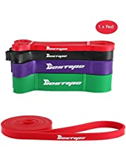 BESTOPE Resistance Band Pull Up Assist Band for Powerlifting and Yoga Premium Latex Durable Workout Stretch Exercise Loop Crossfit Band for Men and Women Training Fitness Band (Red)