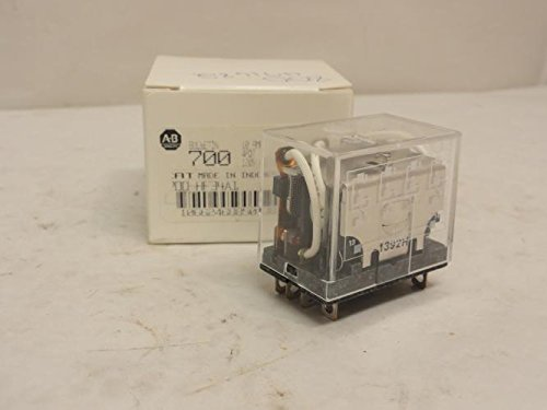 (1- 700-HF34A1 ALLEN BRADLEY 700-HF GENERAL PURPOSE MINIATURE ICE CUBE 14 BLADE SQUARE BASE RELAY, 10 AMP CONTACT, 4PDT, 120V 50/60HZ)