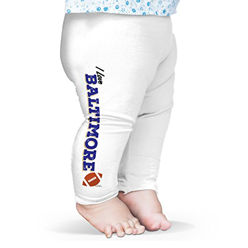 Twisted Envy Baby I Love Baltimore American Football Leggings Trousers 18-24 Months White (Raven Four Trousers)