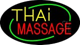 Thai Massage Animated Clear Backing Neon Sign 17'' Tall x 30'' Wide
