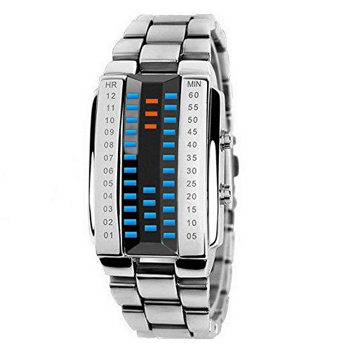 Hombres Mujeres Lovers reloj de pulsera impermeable al agua deporte relojes moda 3d espejo luminoso LED electrónico reloj regalo de Navidad: Amazon.es: ...