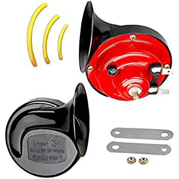 Universal Fit-Blister Pack HELLA 012010971 Black 12V Trumpet Horn Kit