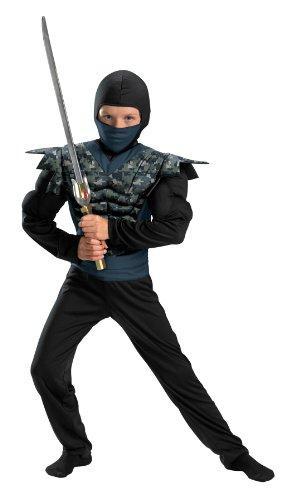 Shadow Ninjas Night Fury Night Camo Ninja Classic Muscle Boys Costume, 7-8