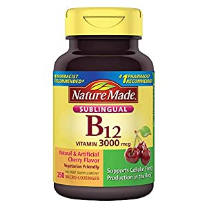 Nature Made Vitamin B-12 3000mcg, Sublingual Lozenges, Cherry (500ct)