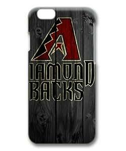 "iPhone 6 Case, Arizona Diamondbacks 01 Wooden Background Hard Protective Case for iPhone 6 (4.7"") 3D Hard Plastic PC Material"