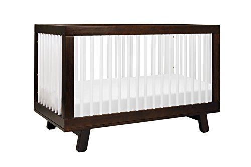 Babyletto Hudson 3 In 1 Convertible Crib With Toddler Bed Conversion Kit Espresso White