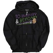 Brisco Brands Infinity Beyond Funny Shirt | Buzz Lightyear Weed Marijuana Zipper Hoodie