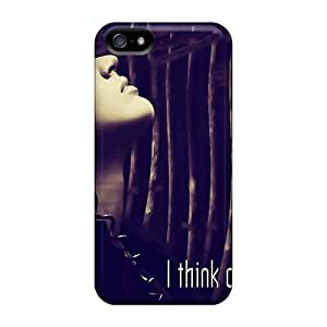 Iphone 5/5s I Think Of You Print High Quality Tpu Gel Frame Case Cover