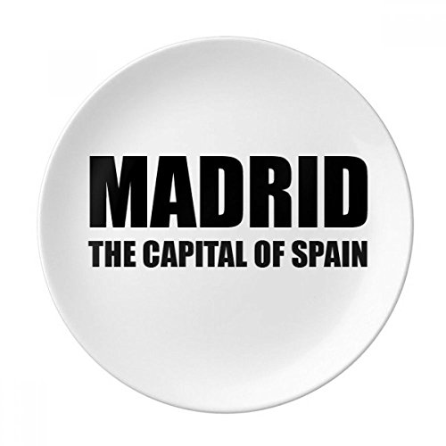 Madrid The Capital Of Spain Dessert Plate Decorative Porcelain 8 inch Dinner Home by DIYthinker
