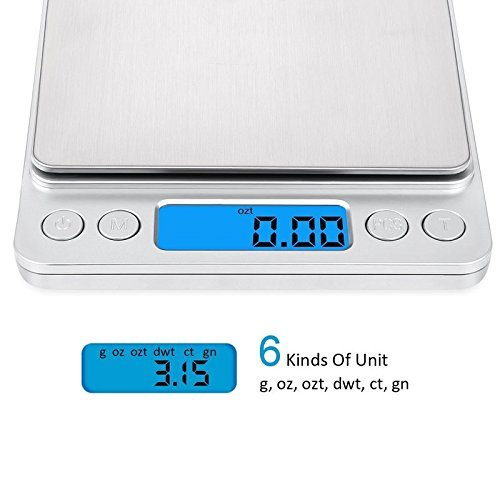 Amazon.com: Xornis Precision Scale 500g x 0.01g Digital Pocket Kitchen Food Scale Jewellery Scale Stainless Steel Backlit Display 0.001oz Resolution: ...