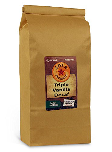 Lola Savannah Triple Vanilla Whole Bean Coffee - Three Unique Layers of Vanilla Deliver A Intense Vanilla Profile | Decaf | 2lb Bag