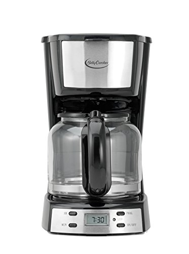 BETTY CROCKER BC-2809CB 12-Cup Stainless Steel Coffee Maker, Multicolor