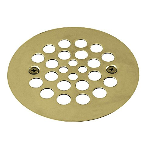 Westbrass D3193-03 Plastic Oddities Style 4-1/4-Inch OD Brass Shower Strainer Grid with Screws ()