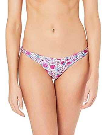 Indaia Swim Women's Mina Reversible Cheeky Pant, Folk Floral, 6