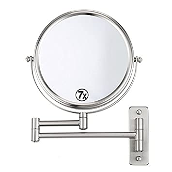 Mona Vista 8quot Bathroom Mirror Makeup Shave Magnifying Double Sided 360 Swivel