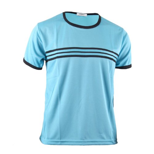 BCPOLO Herren L?ssig Striped T-Shirt 'Sky blue'