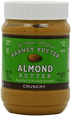 Barney Butter Crunchy Almond Butter, 16-Ounce Jars (Pack of 3) by BARNEY BUTTER