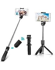 Yimidon Perche Selfie Bluetooth, Selfie Stick Trépied avec Réglable Télescopique Support Téléphone pour iPhone X/XR/8/7/6/6S/XS, Samsung S7/S9/Galaxy S7/Galaxy S8/S7 Edge/, Huawei P20/PRO/Mate