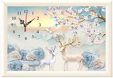 CCJIN Reloj de Punto de Cruz,DIY 5d Diamond Pintura por número Kit,Full Drill Diamond Pintura,Diamond Painting,Crystal Rhinestone Bordado,Lienzo Pared ...