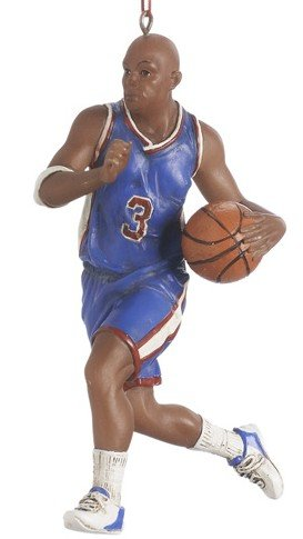 - Midwest Gloves Male African-American Basketball Player Christmas Ornament