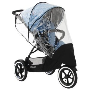 phil&teds Stormy Weather Cover for Single Navigator Stroller, Clear