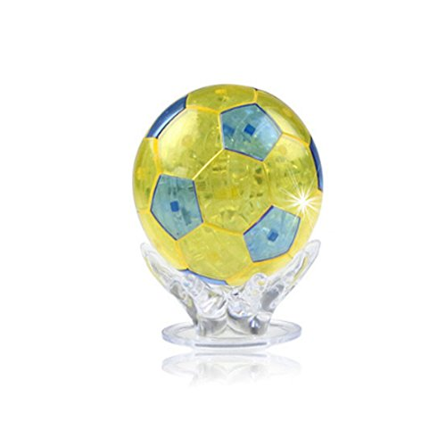Coolplay DIY 3D Jigsaw Crystal Puzzle - Soccer Ball (Ball Jigsaw Puzzle)