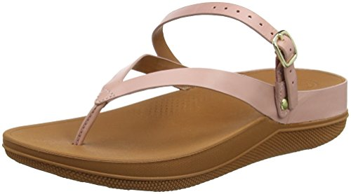 Dusky Strap Pink Women Pink Sandals Leather Flip Back Fitflop zW0wS4Wq