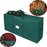 Unomor Christmas Tree Storage Bag, Fit Up to 7'Christmas Tree Container for Artificial Tree 53×13.4×26.8 inch (Green)