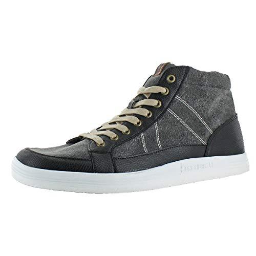 Ben Sherman Mens Knox Canvas Mid Top Fashion Sneakers Black 14 Medium (D) by Ben Sherman (Image #3)