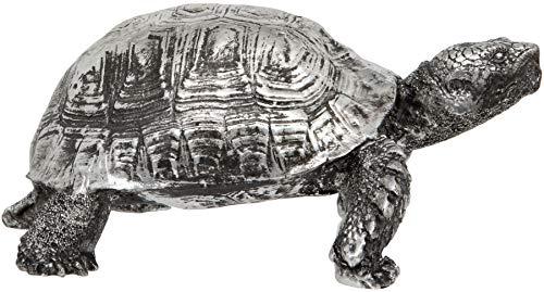 Maturi Silver Galápagos Tortoise Ornament Decorative Piece (Silver Tortoise)