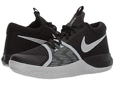 buy online ea0e8 5310d Nike Men s Zoom Assersion Black White Wolf-Grey Basketball Shoes (10 D(