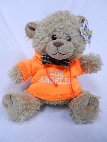 """The Petting Zoo 8"""" Los Angeles Orange Hooded Sweatshirt Beige Bear"""