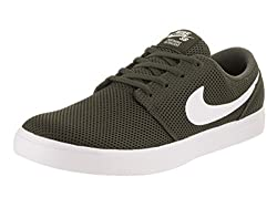 Nike Mens Sb Portmore Ii Ultralight Cargo Khakiwhite Skate Shoe 9 Men Us