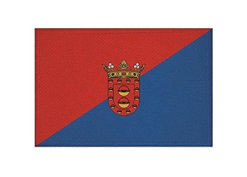U24 Patch//toppa//applique con Bandiera Lanzarote 9 x 6 cm.