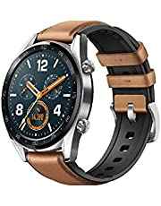 HUAWEI WATCH GT Classic Stainless steel Saddle Brown Hybrid Strap FTN-B19